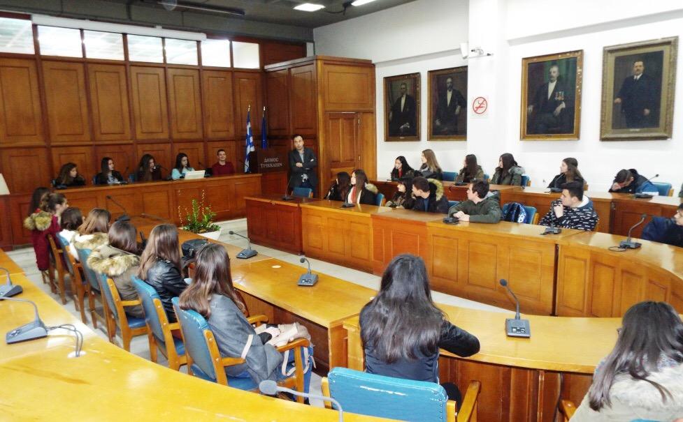 Photo of Επίσκεψη του 1ου ΓΕΛ Φαρσάλων στο Δημαρχείο Τρικκαίων