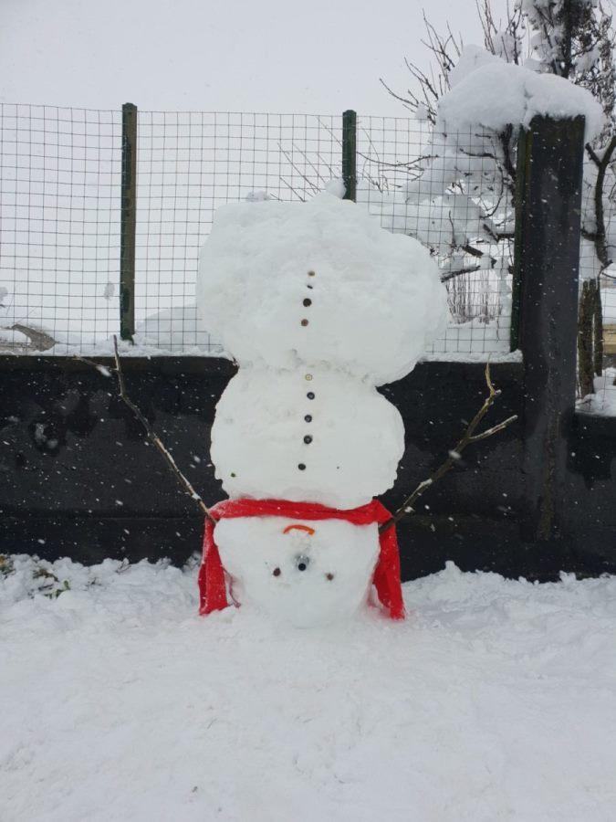 "Photo of ""Πατέντα"" με ανάποδο χιονάνθρωπο στα Φάρσαλα!!!"