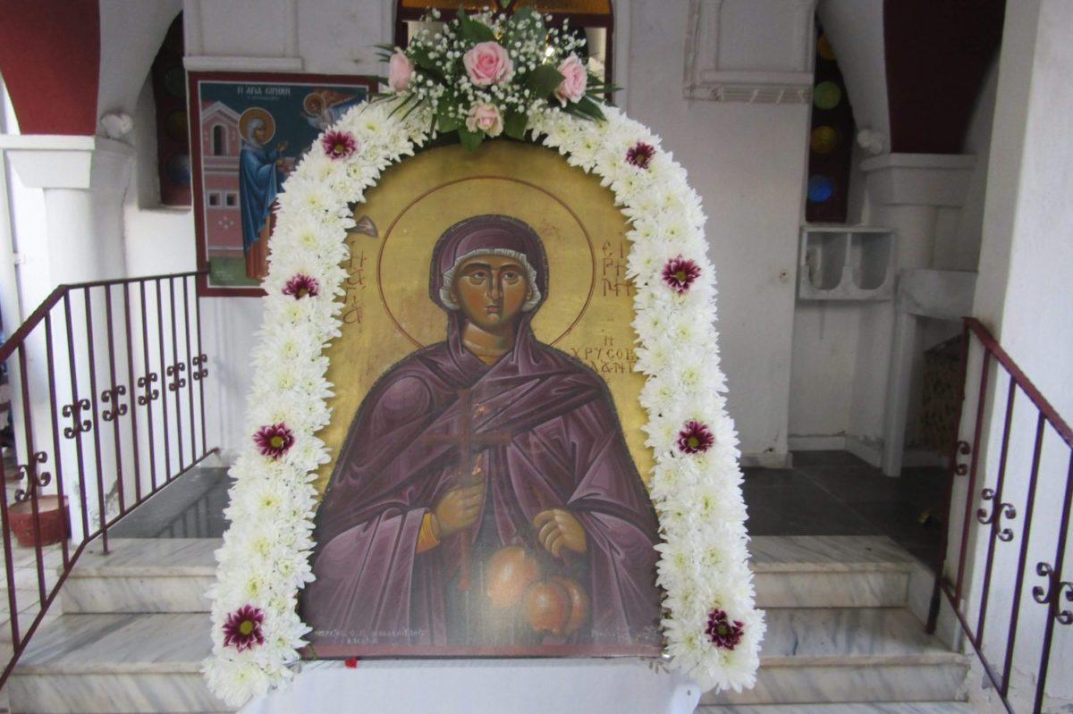 Photo of Πανηγυρίζει η Αγία Ειρήνη Χρυσοβαλάντου
