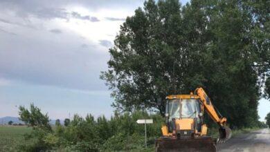 """Photo of """"Λίμνη"""" τα χωράφια της Επαρχίας μετά την νεροποντή έπεσαν και δέντρα, αποκαταστάθηκαν οι ζημιές (Pics)"""